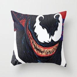 Symbiote Throw Pillow