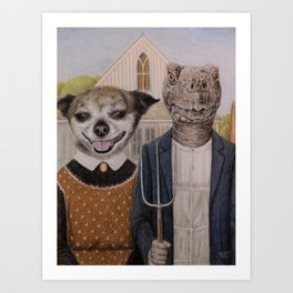pets portrait Art Print