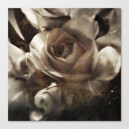 rose bloom tintype Canvas Print