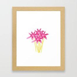 Magenta Love Framed Art Print
