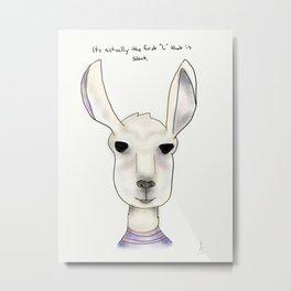 robert llama Metal Print