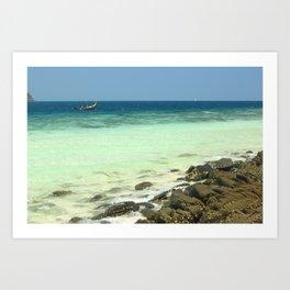 Banana beach, Koh Hey island, Thailand Art Print