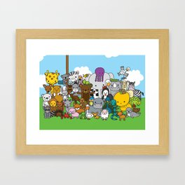 Zoe animals Framed Art Print