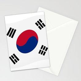 south korea flag Stationery Cards