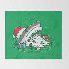 The Santa Shark Throw Blanket