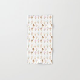 Watercolor Ice Cream Cones Hand & Bath Towel