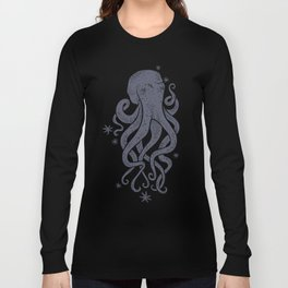 Octopus Squiggly King Of The Sea Pattern Long Sleeve T-shirt