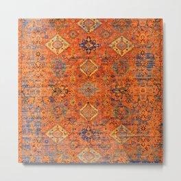 Oriental Vitange Moroccan Rug Design Metal Print