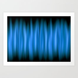 WARP SPEED | blue Art Print