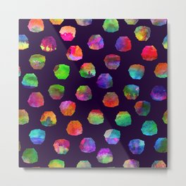 Colorful pattern with brush blots and spots Metal Print