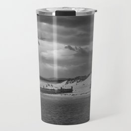 Panaromic of Lossiemouth beach on west coast of Scotland Travel Mug