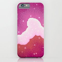 Lesbian Pride Flag Galaxy iPhone Case