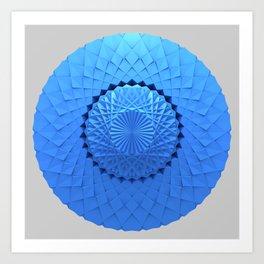 3d Mandala Art Print