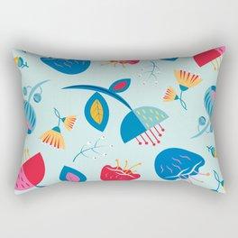 Scandinavian Floral Pattern Rectangular Pillow