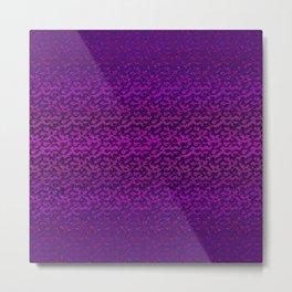 Violet Marbled Gem Metal Print