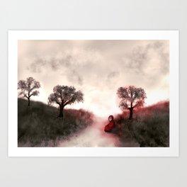 Dream red Art Print