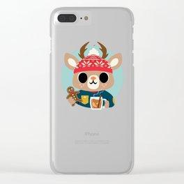 Deer in a Sweater Clear iPhone Case