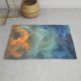 tie dye - the Earth: island formation Rug