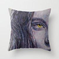 siren Throw Pillows featuring Siren by Michael Creese