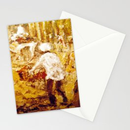 Gold Miners , AUSTRALIA             by Kay Lipton Stationery Cards