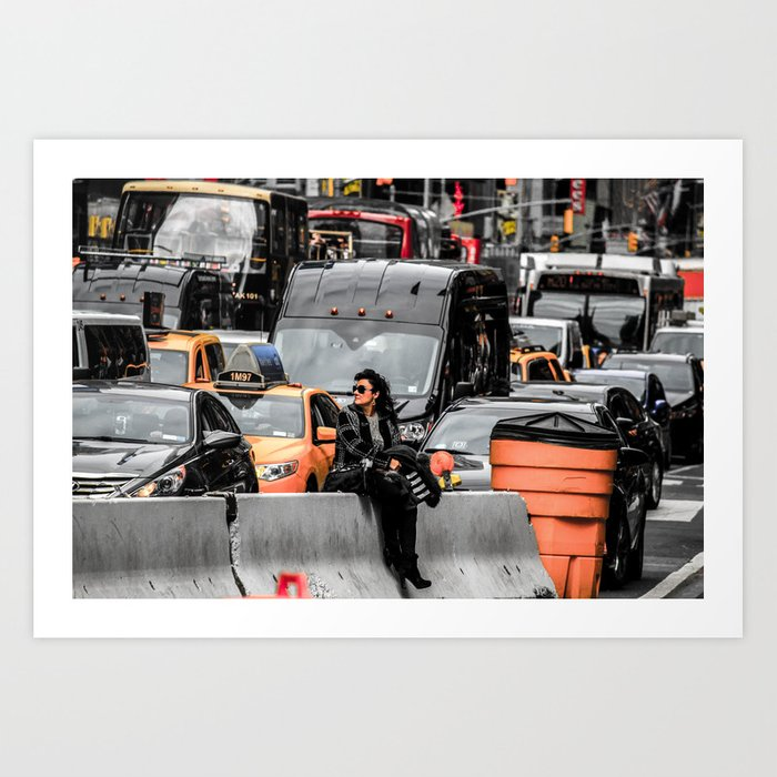 Black and colour New York City USA artwork Art Print
