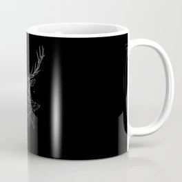 Deer with magnificent antlers of fine lines Coffee Mug