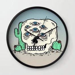 DIE IN THE DESERT Wall Clock