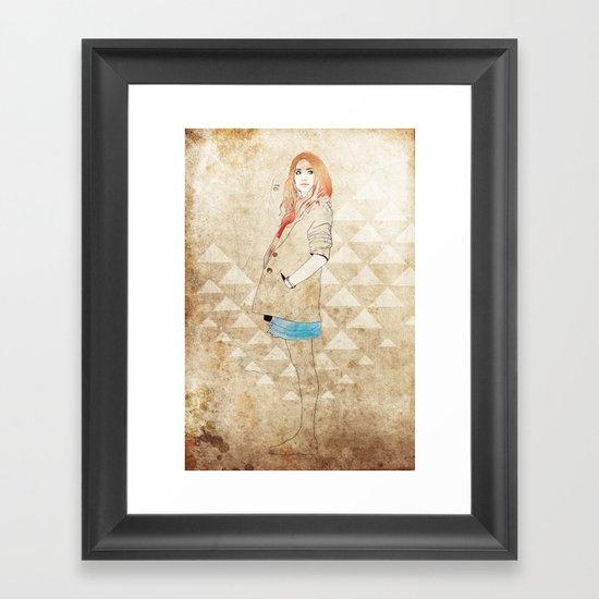 Girl One Framed Art Print