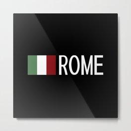 Italy: Italian Flag & Rome Metal Print