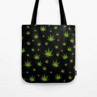 weed Tote Bags featuring Weed Weed Weed by Spyck
