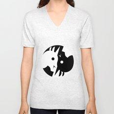 Yin Yang Unicorn Unisex V-Neck