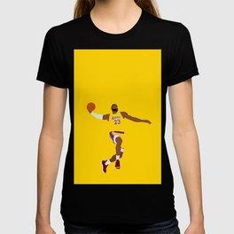 Lebron Dunk Laker James - Basketball Illustration T-shirt