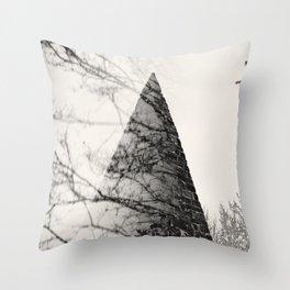 Mystic Pyramid Throw Pillow