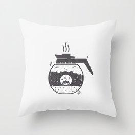 Halloween in a coffee maker!! Throw Pillow