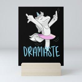 Dramaste Yoga Drama Queen funny Design Mini Art Print