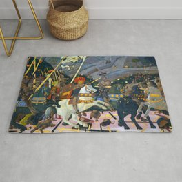 """Paolo Uccello """"The Battle of San Romano"""" Rug"""