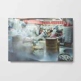 steamed dumpling vendor Metal Print