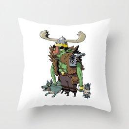 Goblin Boss Throw Pillow