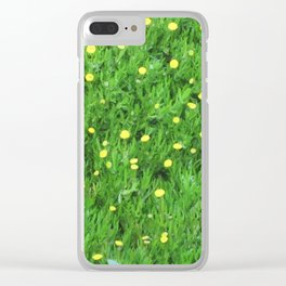 Yellow flowers I found under the boardwalk Clear iPhone Case