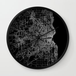 milwaukee map Wall Clock