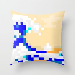 Pixewave Throw Pillow