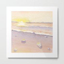 Creamsicle Beach Metal Print