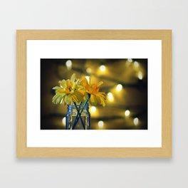 Jar of flowers Framed Art Print