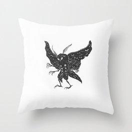 Mothman Throw Pillow