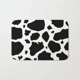 black and white animal print cow spots Bath Mat
