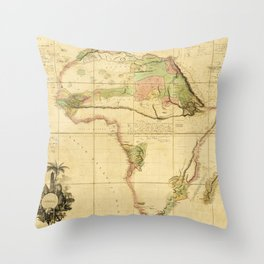 Map of Africa by Aaron Arrowsmith (1802) Throw Pillow