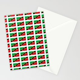 Flag of Saint Kitts and Nevis-Saint Christophe,Saint Kitts,Nevis,Kittian,Nevisian Stationery Cards