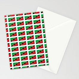 Flag of Saint Kitts and Nevis-Saint Christophe,Saint Kitts,Nevis,Kittian,Nevisian Stationery Cards