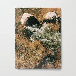 Water splashing in the rocks #water #splash Metal Print