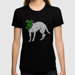 Dog Wearing A Gas Mask T-shirt